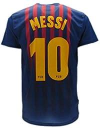 Camiseta de Fútbol Lionel Leo Messi 10 Barcelona Barça Home Temporada  2018-2019 Replica Oficial 4794eeb3d2b