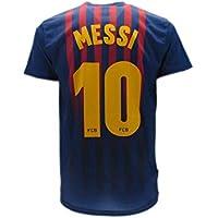 Barcellona T-Shirt Maillot de Football Lionel Leo Messi 10 Barça Nouveau Saison 2018-2019 Replica Officiel avec Licence - Tous Les Tailles Enfants et Adultes