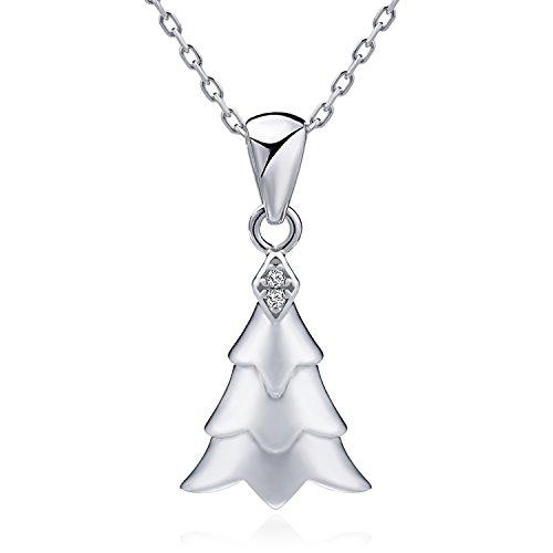 Wonvin Weihnachtsbaum Silberkette mit Rolo Kette 45cm Schmuck für Frauen