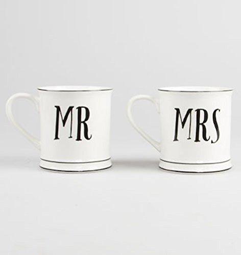 *Set, Vintage-Style, Keramik, Mr and Mrs Hochzeits-tassen tolles Geschenk.*
