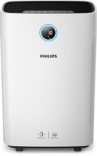 Philips Series 3000 AC3821/20 2-in-1 Air Purifier with Humidifier (White)