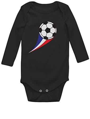 Green Turtle T-Shirts Body bébé Fan de Foot Drapeau Francais idée Naissance Body Bébé Manche Longue 18M Noir