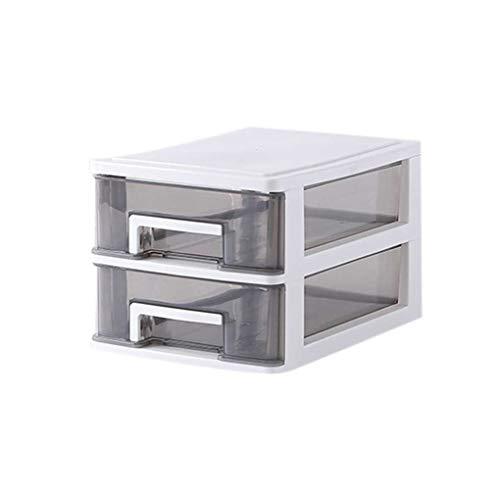 Transparente Tischschublade Home Office Papier Dateien Gadgets Makeup Tools Storage Box mit Mehreren Layern Schreibtisch-Organisator-Fall Regard L -