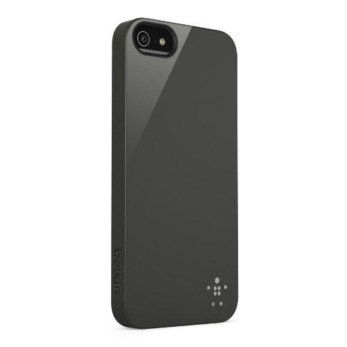 Belkin F8W159VFC04 Shield Case - Cover Custodia per iPhone 5/5S/SE, Rosso Black
