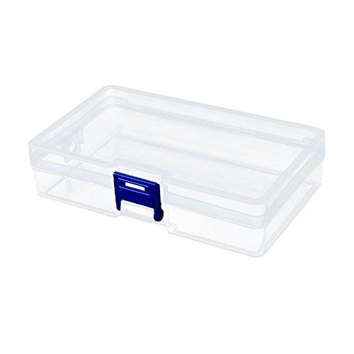 VANMO Nail Art Storage Box, 2019 Neu 1 STÜCK Kunststoff Nagel Werkzeug Dekorationen Leere Aufbewahrungskoffer Box Unordentliche Schönheitswerkzeuge Organisieren 14 * 8 * 3.5cm -