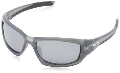 Oakley - Occhiali da sole Valve Rettangolari, Uomo, Matte Grey Smoke/Black Iridium Polarized (S3)
