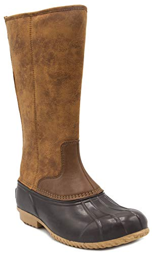 London Fog Womens Whitley Cold Weather Tall Duck Boot
