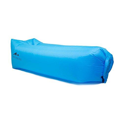 Ehrenberg Premium Luft Sofa XXL aus Robustem Nylon-Ripstop mit Praktischem Tragebeutel. Wasserdichte Aufblasbare Air Lounger Liege Airsofa Luftkissen Camping Indoor Outdoor. Strand Luft Matratze