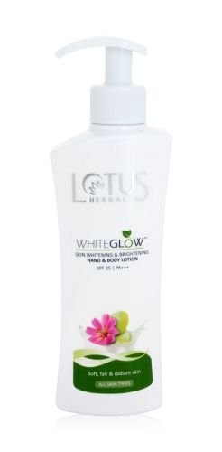 Lotus Herbals White Glow Skin Whitening and Brightening SPF-25 Hand and Body Lotion, 300ml