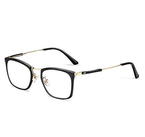 Intelligente Zoom Lesebrille Blaues Licht Blockieren Brille Besseren Schlaf Anti Eyestrain Kopfschmerzen 1.0X-3.0X Männer Frauen (Farbe : SCHWARZ, größe : 2.5X)
