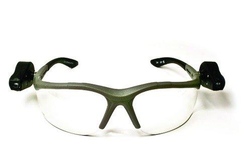 AOSafety 114760000010 LightVision Schutzbrille w / LED-Leuchten-Clear AntiFog Lens-grauen Rahmen -