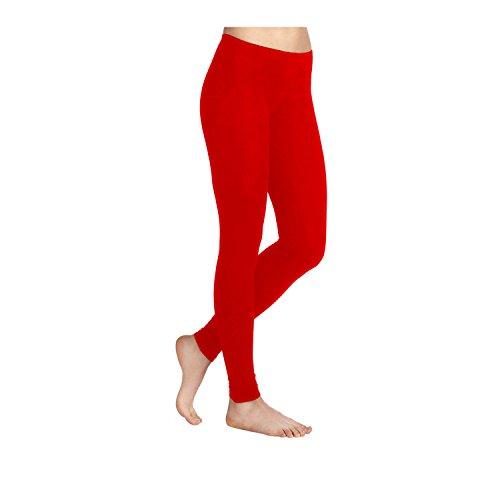 Leggings en Viscose stretch en Lycra pour femme-Tailles 36–52 Fabriqué au Royaume-Uni Rouge (rosso)