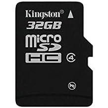 Kingston SDC4/32GBSP - Tarjeta micro SDC4/32GB (SDHC clase 4, 32 GB sin adaptador)