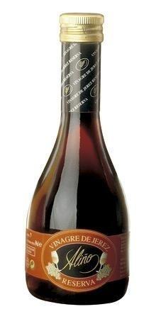 Vinagre de Vino de Jerez Reserva Gourmet - 250 ml - Vinagre de España de Alta Calidad, Envejecido en Barrica de Roble - Gran Variedad de Ricos Sabores y Aromas Intensos - Una Tradición de 50 Años.