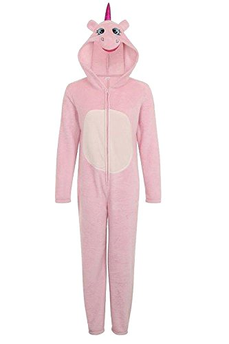 - 31GoqW0ZDyL - Womens Unicorn Onesie Ladies Pyjamas 3D Ears Horn & Tail All In One Loungewear