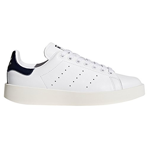 adidas originali delle scarpe di cuoio audace piattaforma stan smith