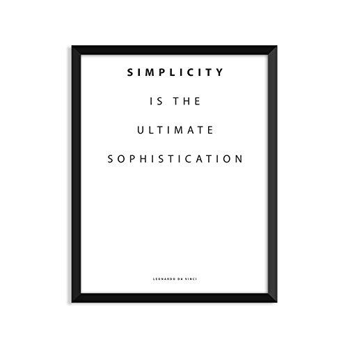 Serif Design Studios Simplicity ist die Ultimative Raffinesse, inspirierendes Zitat, Minimalistische Poster, Home Decor, College Wohnheim Zimmerdekoration, Wand-Kunst 8.5x11 Small Print (Poster College-wohnheim)