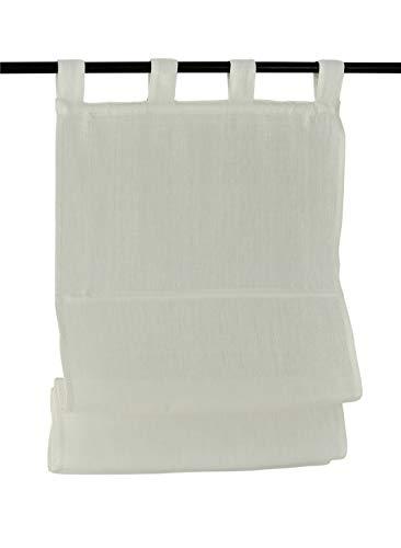 Kutti tenda a pacchetto metis passanti 100% puro lino colore crema 45 * 140 cm
