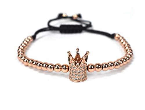 YXSHHHL Armband Geflochtene Macrame Einstellbar Armband Kupfer Strang Armband Für Männer Frauen Schmuck Geschenk, 3