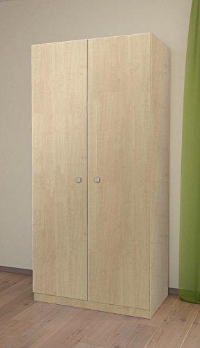 Ahorn-set Schrank (Polini Kinder Einfache Collection Zwei Unterteilte Kleiderschrank, natur)