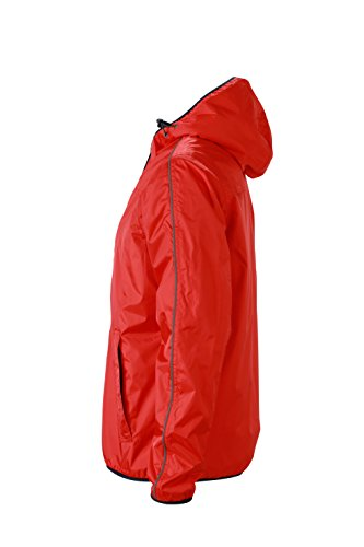 James & Nicholson Herren Jacke Jacke Winter Sports Jacket Light-Red/Off-White