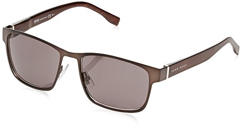 BOSS Hugo Herren 0769/S Y1 Sonnenbrille, Braun (Matt Brown/Grey), 57