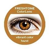 Farbige Kontaktlinsen Jahreslinsen braun hellbraun haselnuss 'Hazel' gute Deckkraft ohne Stärke mit Aufbewahrungsbehälter
