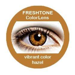Farbige Kontaktlinsen Jahreslinsen braun hellbraun haselnuss gute Deckkraft ohne Stärke mit Aufbewahrungsbehälter