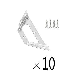 L-bracket Fer Angle en Acier Inoxydable à Angle Droit de 90 degrés, connecteur de renforcement de trépied de Support de Cadre en métal argenté, avec vis