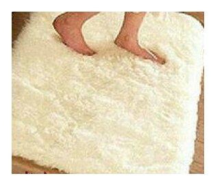 Weiße Flokati-teppiche (GRENSS 4,5 cm Dicke 40 * 60 cm Mode mit Wohn-/Essbereich Schlafzimmer Auto Flokati Shaggy Elfenbein Teppich Rutschfeste Teppich Seatmat, weiß, 400 mm x 600 mm)