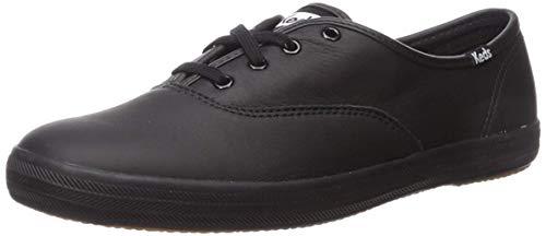 Keds Womens Champion Original Leather Sneaker, Black Leather, 7 WW US -