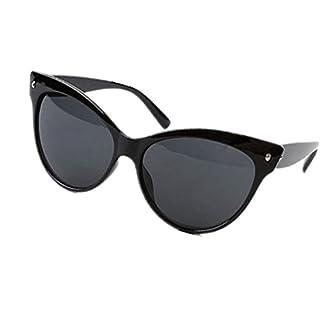 Ardisle Katze Auge Sonnenbrille Katze Auge Damen Frauen Retro Vintage Schattierungen Übergroßer Designer Groß (Hell Schwarz)