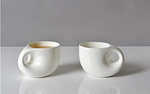 PORCN jarras de cerveza 1 Unids regalo de la novedad perfecta, 240ML, Diseño de gota de agua, taza de café nespresso creativa de porcelana de hueso, jarra de cerveza de cerámica, A