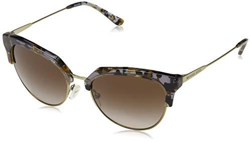 Michael Kors Damen SAVANNAH 333913 54 Sonnenbrille, Black/Gold Flecks/Shiny Pale G/Smokegradient,
