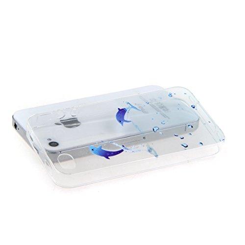 iPhone 5C Hülle,iPhone 5C Case,iPhone 5C Cover - Felfy Ultradünnen Klar Delfine Pattern Handyhülle für iPhone 5C Soft Flexible Weich TPU Silikon Schutzhülle Etui Bumper Case + 1x Schutzfolie Screen +  Delfine