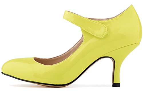 Fangsto  Mary Jane, Claquettes fille femme Jaune