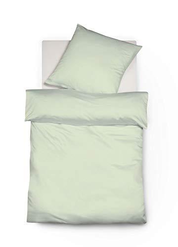 Galleria fotografica fleuresse Colours Interlock Set di biancheria da letto, Jersey, Verde pastello, 38.4x 27.8x 5cm, 2unità