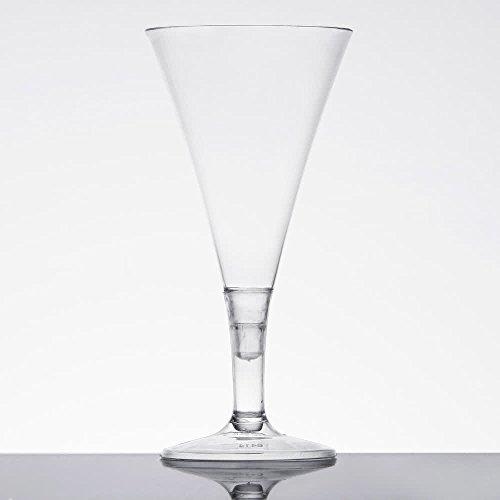 Élégant Mini Plastique Tasses/Mini Coupes de champagne/Mini Dessert Tasses – Clair – 2 Pièces – 56,7 gram (50ml) – Lot de 12