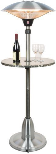 31GpERMADHL - BEST BUY #1 Andrew James Outdoor Patio Heater with 2100W Electric Halogen Element and Floating Table Reviews and price compare uk