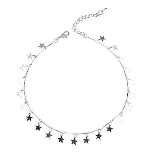 Fenical collana girocollo in argento con catena choker di donne boho per regalo di gioielli da donna