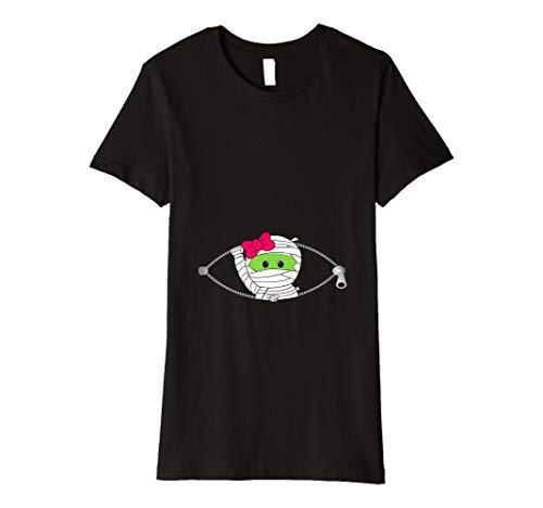 Damen Schwangerschaft Halloween T-Shirt für Frauen Lustiges Baby