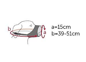 Flamingo Muselière en Nylon pour Chien 15 cm 39-51 cm Taille XS