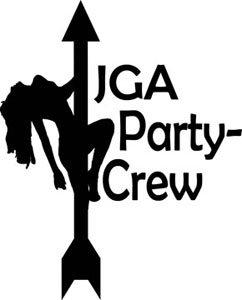 Mister Merchandise Herren Men V-Ausschnitt T-Shirt JGA - Party Crew Junggesellenabschied Striptease Tee Shirt Neck bedruckt Navy