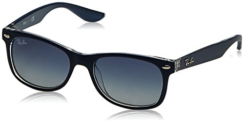 Ray-Ban Rayban Unisex-Kinder Sonnenbrille 9052s Matte Blue On Transparent/Greygradientblue 47