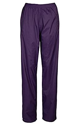 Mountain Warehouse Pakka Womens Waterproof Overtrousers - Packaway Bag, Breathable Rain Pants, Hook & Loop Ankle Opening Ladies Trousers - for Wet Weather, Travelling