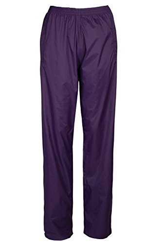 Mountain Warehouse Pakka Womens Waterproof Overtrousers - Packaway Bag, Breathable Rain Pants, Velcro Ankle Opening Ladies Trousers - For Wet Weather, Hiking & Travelling