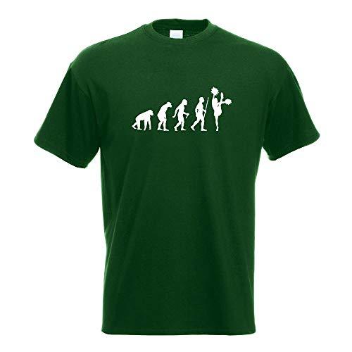 Kiwistar Cheerleader Evolution T-Shirt Motiv Bedruckt Funshirt Design Print