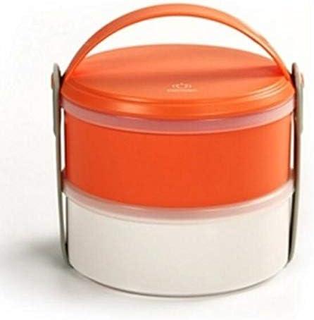 Mode mignon Boîte à lunch en plastique ronde PP PP PP à deux couches (orange) B07L7N9RML | Brillance De Couleur  a15ca5