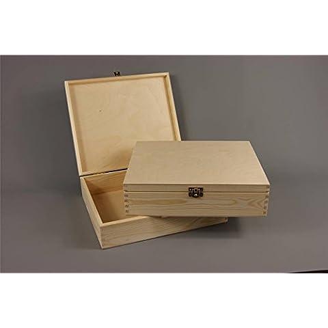 Llana madera – Caja de madera para baratijas joyería – decoupage pequeño P18