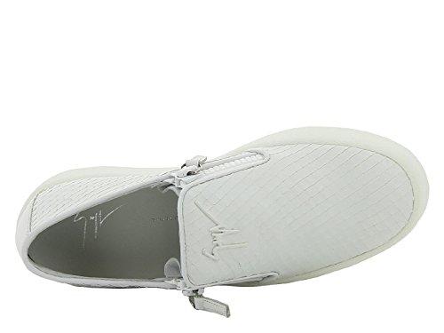 Basket slips-on Giuseppe Zanotti femme en cuir blanc - Code modèle: RS6006 003 Blanc